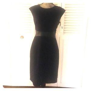 Calvin Klein Size 6 Navy w/ Black leather band
